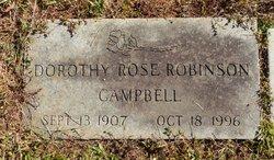 Dorothy Rose <I>Robinson</I> Campbell