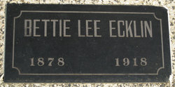 "Elizabeth Lee ""Bettie Lee"" <I>Stanturf</I> Ecklin"