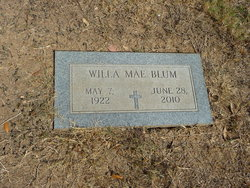 Willa Mae <I>Leftwich</I> Blum