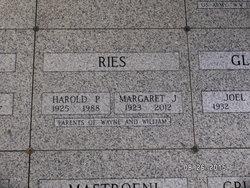 "Margaret Johanna ""Marge"" <I>Ruden</I> Ries"