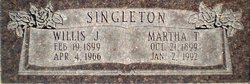 Martha Jane <I>Thurgood</I> Singleton