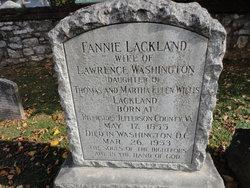 "Frances Willis ""Fannie"" <I>Lackland</I> Washington"