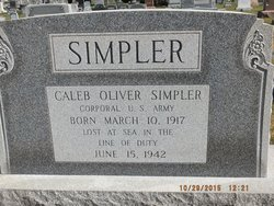 Corp Caleb Oliver Simpler