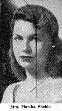 Martha S <I>Claflin</I> Sheble