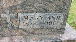 Mary Ann <I>Kneff</I> Nickel