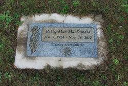 Betty Mae <I>Wright</I> MacDonald