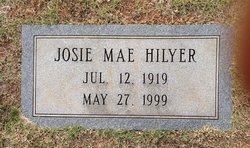 Josie Mae <I>Fant</I> Hilyer