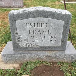 Esther I. <I>Duke</I> Frame