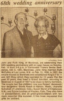Ruth M <I>McCulley</I> King
