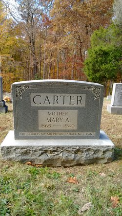 Mary A <I>McElyea</I> Carter
