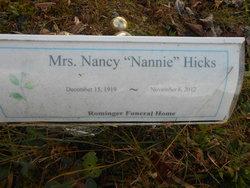 "Nancy ""Nanny"" <I>Vaughn</I> Hicks"