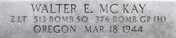 2Lt Walter Edwin McKay