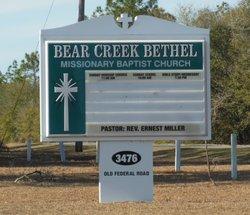 Bear Creek Missionary Baptist Church Cemetery
