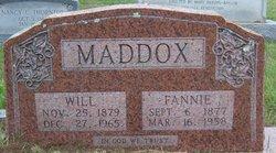Fannie <I>Nichols</I> Maddox