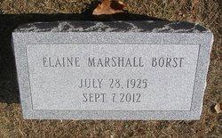 Elaine <I>Marshall</I> Borst