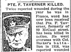 Private Frank Taverner