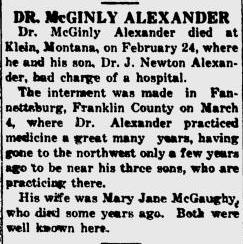 Dr McGinley Alexander