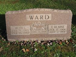 Elizabeth L <I>Brown</I> Ward