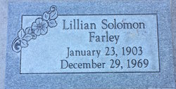 Lillie Mae <I>Solomon</I> Farley