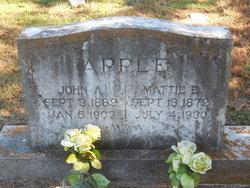 """Martha E. """"Mattie"""" <I>Parker</I> Apple"""
