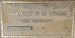 Dorothy H.M. <I>Bernhardt</I> Adams