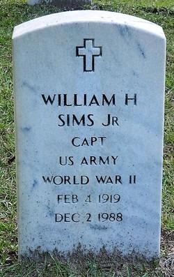 Capt William Henry Sims, Jr
