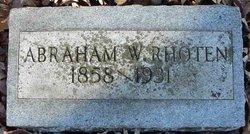 Abraham W Rhoten