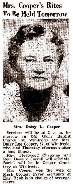 Daisy Lee <I>Green</I> Cooper