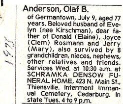 Olaf B. Anderson