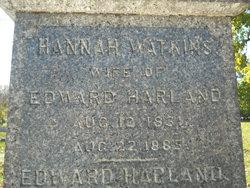 Hannah <I>Watkins</I> Harland