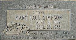 Mary E <I>Faul</I> Simpson