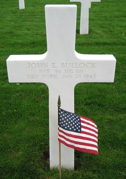Pvt John E Bullock