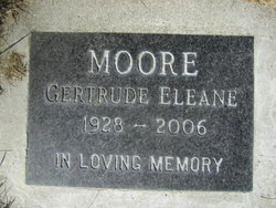 Gertrude Eleane <I>Crossfield</I> Moore