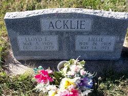 Lloyd E Acklie