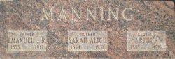 Sarah Alice <I>Singleton</I> Manning