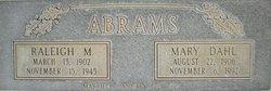 Mary Louisa <I>Dahl</I> Abrams