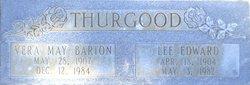 Vera May <I>Barton</I> Thurgood