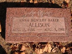 Anna <I>Bentley</I> Allison