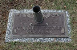 "Goldie Louise ""Tootie"" McMahan"