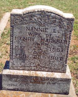 """Nancy L. """"Nannie"""" <I>Rhoads</I> Markham"""