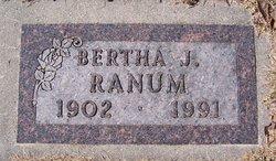 Bertha Johanna <I>Hanson</I> Ranum