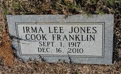 Irma <I>Jones</I> Cook Franklin