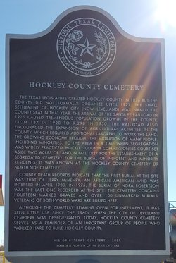Hockley County Cemetery