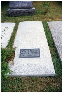 """Frances Marjorie B. """"Margo"""" <I>Boulenger</I> Edinger"""