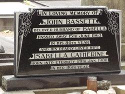 Isabella Catherine <I>Travers</I> Bassett