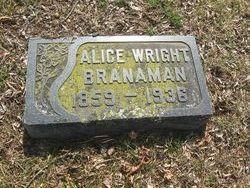 Alice <I>Wright</I> Branaman