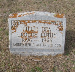 Lillie Bea <I>Crouch</I> Luthy