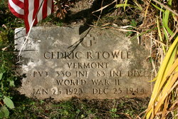 Pvt Cedric Russell Towle