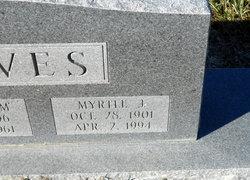 Mary Myrtle <I>Jones</I> Graves