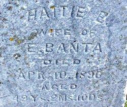 Hattie E. <I>Crosby</I> Banta